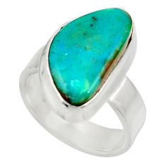 925 sterling silver 7.40cts natural green opaline solitaire ring size 6 d34113