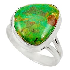 9.47cts natural green opaline 925 sterling silver solitaire ring size 8.5 d34115