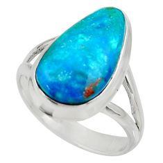 925 silver 6.84cts natural green opaline solitaire ring jewelry size 8 d34117