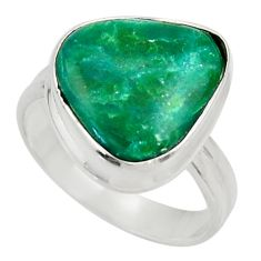 9.05cts natural green opaline 925 sterling silver solitaire ring size 8 d34119