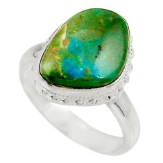 925 sterling silver 6.75cts natural green opaline solitaire ring size 7.5 d34120