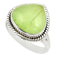 Clearance Sale- 925 silver 9.03cts natural green prehnite solitaire ring jewelry size 8.5 d34158