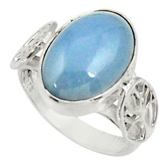 Clearance Sale- 6.02cts natural blue owyhee opal 925 silver solitaire ring jewelry size 7 d34209