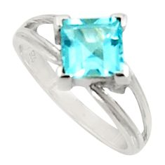 2.87cts natural blue topaz 925 sterling silver solitaire ring size 6.5 d34285