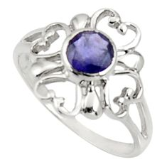 925 silver 1.45cts natural brown iolite solitaire ring jewelry size 8.5 d34289