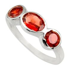 Clearance Sale- 3.29cts natural red garnet 925 sterling silver ring jewelry size 7.5 d34293