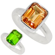 Clearance Sale- 925 silver 3.32cts green alexandrite (lab) solitaire ring jewelry size 6 d34319