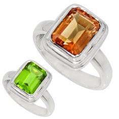 3.43cts green alexandrite (lab) 925 silver solitaire ring jewelry size 6 d34320