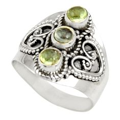2.02cts natural green tourmaline 925 sterling silver ring jewelry size 7 d34325