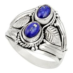 Clearance Sale- 925 sterling silver 2.26cts natural blue lapis lazuli ring jewelry size 8 d34327
