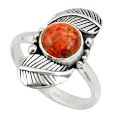 Clearance Sale- 925 silver 3.42cts red copper turquoise solitaire ring jewelry size 9 d34397