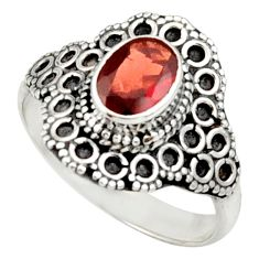 Clearance Sale- 2.13cts natural red garnet 925 sterling silver solitaire ring size 9 d34430