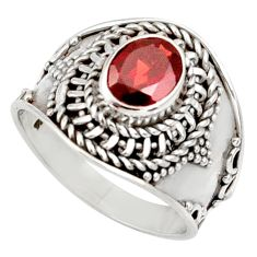 Clearance Sale- 2.02cts natural red garnet 925 sterling silver solitaire ring size 8 d34461