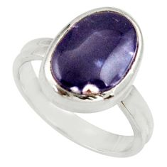 Clearance Sale- 925 sterling silver 4.92cts natural purple opal solitaire ring size 7 d34484