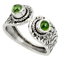 925 silver 1.00cts natural tourmaline adjustable solitaire ring size 8 d35175