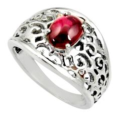 Clearance Sale- 925 sterling silver 2.28cts natural red garnet solitaire ring size 8 d35184