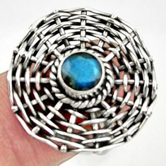 Clearance Sale- 1.10cts natural blue labradorite 925 silver solitaire ring jewelry size 7 d35214