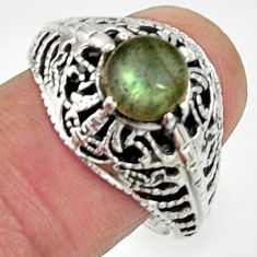Clearance Sale- 2.24cts natural blue labradorite 925 silver solitaire ring jewelry size 9 d35238