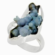 925 silver 9.67cts natural purple grape chalcedony solitaire ring size 7 d35324
