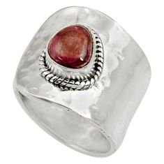 Clearance Sale- 925 silver 2.51cts natural pink bio tourmaline solitaire ring size 8.5 d35392