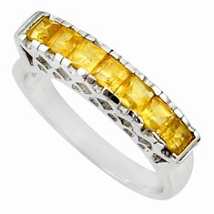 2.55cts natural yellow citrine 925 sterling silver ring jewelry size 9 d35425