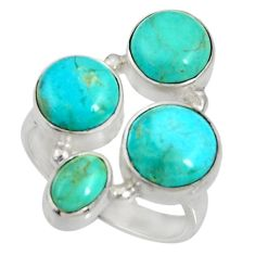 925 sterling silver 11.37cts green arizona mohave turquoise ring size 8.5 d35610