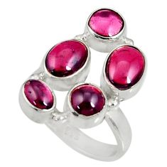 Clearance Sale- 7.72cts natural red garnet 925 sterling silver ring jewelry size 7.5 d35616
