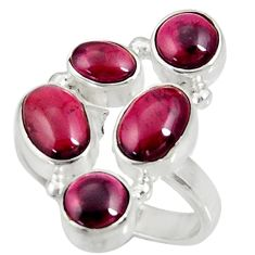 Clearance Sale- 7.62cts natural red garnet 925 sterling silver ring jewelry size 7.5 d35629