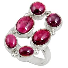 Clearance Sale- 8.62cts natural red garnet 925 sterling silver ring jewelry size 6.5 d35630