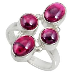 Clearance Sale- 925 sterling silver 6.80cts natural red garnet ring jewelry size 7.5 d35631