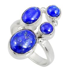Clearance Sale- 925 sterling silver 7.35cts natural blue lapis lazuli ring jewelry size 8 d35636