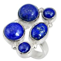 Clearance Sale- 925 sterling silver 9.71cts natural blue lapis lazuli ring jewelry size 7 d35640