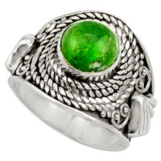 3.28cts natural green chrome diopside 925 silver solitaire ring size 6 d35792