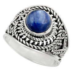 3.01cts natural blue kyanite 925 sterling silver solitaire ring size 7 d35807
