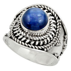 Clearance Sale- 3.01cts natural blue kyanite 925 sterling silver solitaire ring size 6 d35809