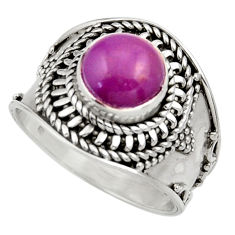 3.24cts natural purple phosphosiderite 925 silver solitaire ring size 8 d35813