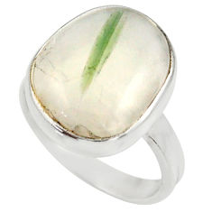 Clearance Sale- 925 silver 8.55cts natural tourmaline in quartz solitaire ring size 6.5 d35852