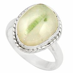 Clearance Sale- 925 silver 6.54cts natural tourmaline in quartz solitaire ring size 8 d35858