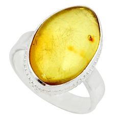 10.81cts natural lemon topaz 925 silver solitaire ring jewelry size 7.5 d35911