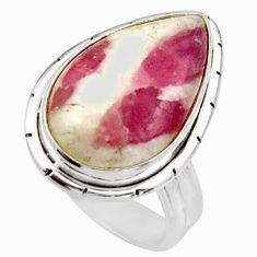 9.65cts natural tourmaline in quartz 925 silver solitaire ring size 6 d35934