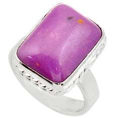 Clearance Sale- 10.69cts natural purple phosphosiderite 925 silver solitaire ring size 7 d35977