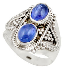 925 sterling silver 3.36cts natural blue tanzanite ring jewelry size 7 d35983