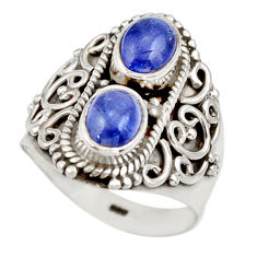 3.27cts natural blue tanzanite 925 sterling silver ring jewelry size 6.5 d35985
