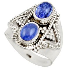 925 sterling silver 3.35cts natural blue tanzanite ring jewelry size 6.5 d35989