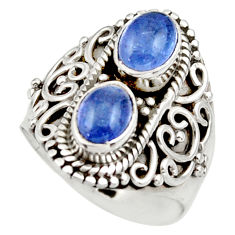 3.52cts natural blue tanzanite 925 sterling silver ring jewelry size 6.5 d35992