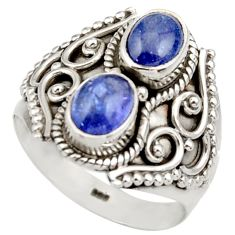 925 sterling silver 3.27cts natural blue tanzanite ring jewelry size 7.5 d35993