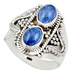 Clearance Sale- 3.28cts natural blue tanzanite 925 sterling silver ring jewelry size 7.5 d35997