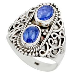 925 sterling silver 3.42cts natural blue tanzanite ring jewelry size 8 d35998