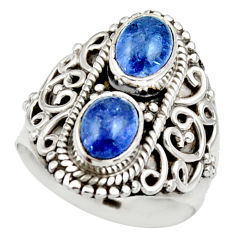 Clearance Sale- 3.42cts natural blue tanzanite 925 sterling silver ring jewelry size 6.5 d35999