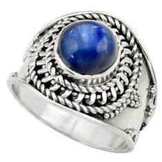 Clearance Sale- 925 sterling silver 3.28cts natural blue kyanite solitaire ring size 7 d36054